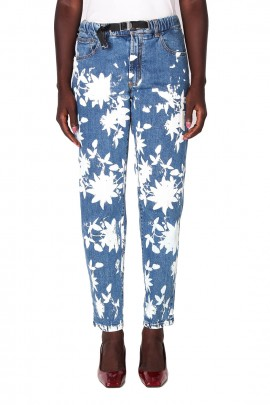 JEANS BAGGY WHITE SAND