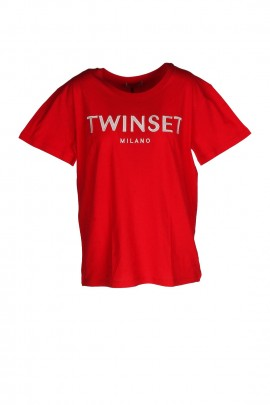 MAGLIERIA TOP E T-SHIRT TWIN SET