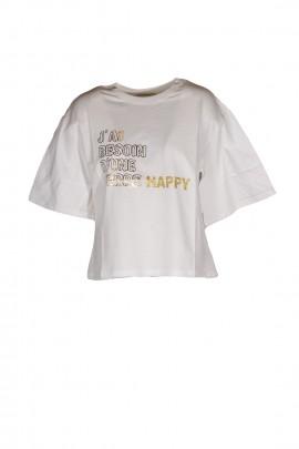 MAGLIERIA TOP E T-SHIRT HAPPY25